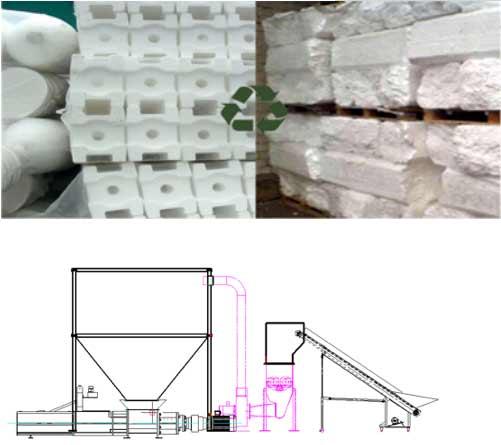 EPS recycling & pelletizing
